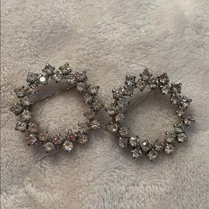 Pair of diamond rhinestone pins